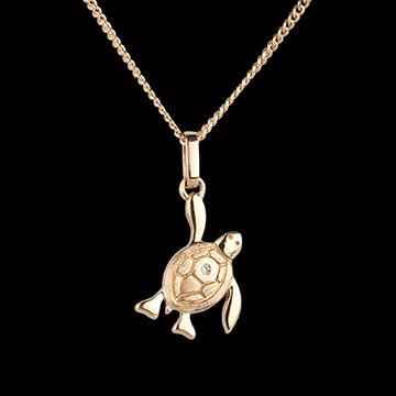 Mały żółwik - mały model - złoto żółte 18-karatowe