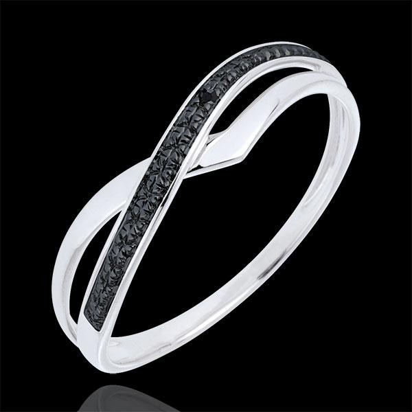 Marina Ring - White gold and black diamond