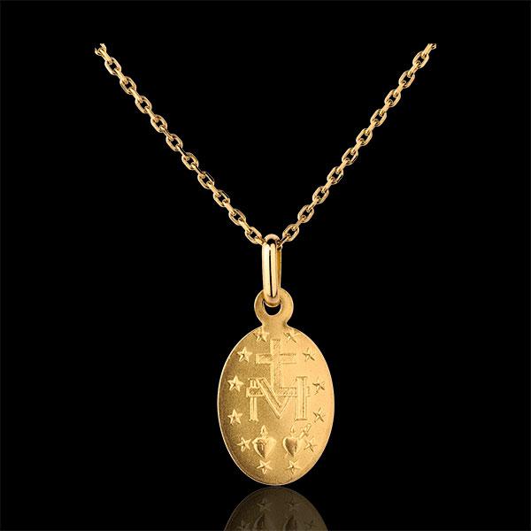 Médaille miraculeuse - or jaune 18 carats