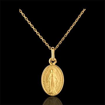 Medalion miraculos - aur galben de 18K