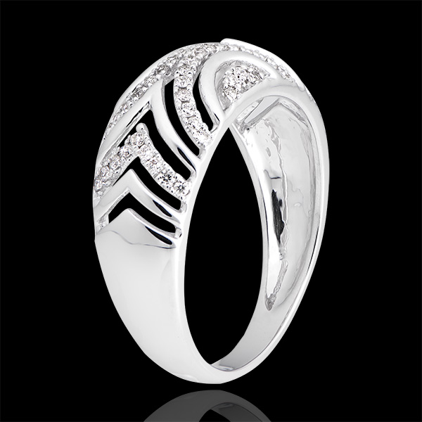 Mona ring - 18K white gold and diamonds