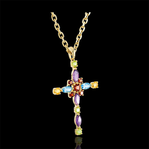 Multicoloured Byzantium Cross Pendant