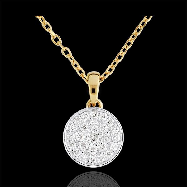 Naszyjnik dwukolorowy Moja Konstelacja - 0,163 karata - złoto białe i złoto żółte 18-karatowe