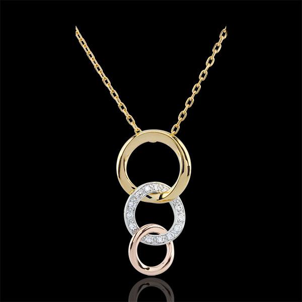 Naszyjnik Gala - trzy rodzaje złota 18-karatowego