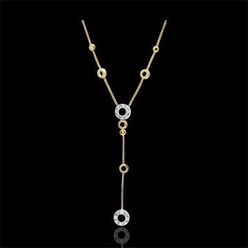 Naszyjnik Graziella - złoto białe i złoto żółte 9-karatowe