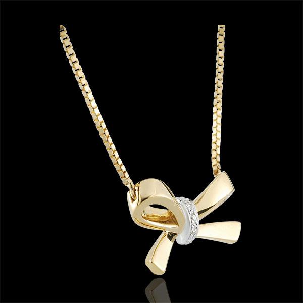 Naszyjnik w kształcie węzła Carlotta - złoto żółte 9-karatowe