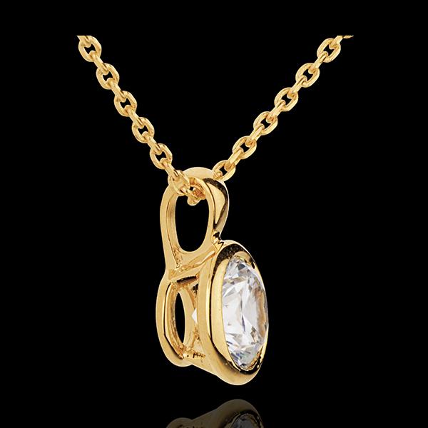 Naszyjnik Lalka z żółtego złota 18-karatowego z jednym diamentem