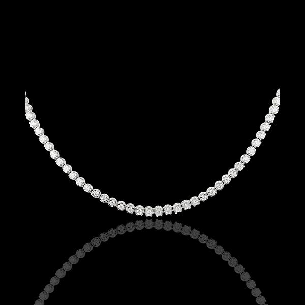Naszyjnik Noc Pod Gwiazdami - złoto białe 18-karatowe
