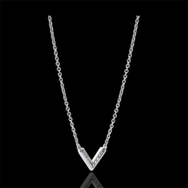 Naszyjnik Obfitość – Ewa – białe złoto 9-karatowe z diamentami