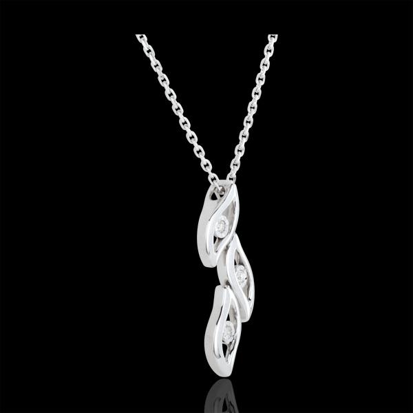 Naszyjnik Płomienie z białego złota 18-karatowego i diamentów