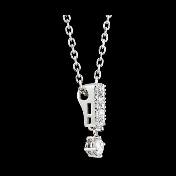 Naszyjnik Przeznaczenie - Medyceusze - diamenty i białe złoto 9-karatowe