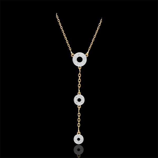 Naszyjnik Tala - złoto białe i złoto żółte 9-karatowe