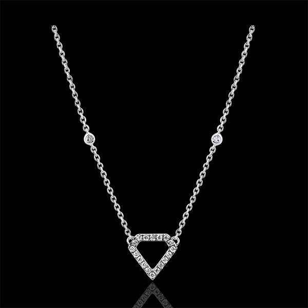 Necklace Abundance - Diamantra - white gold 9 carats and diamonds