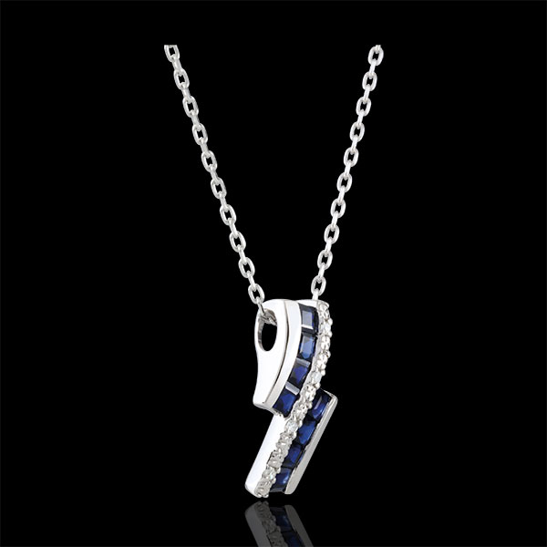 Necklace Constellation - Zodiac - sapphires and diamonds
