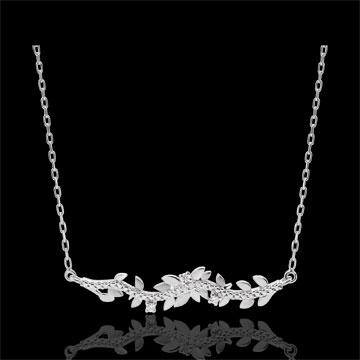 Necklace Enchanted Garden - Foliage Royal - White gold and diamonds - 9 carat