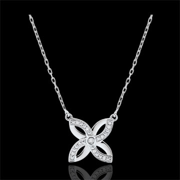 Freshness Necklace - Summer Lily - white gold