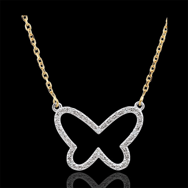 Necklace _ Imaginary Walk - Butterfly Cloud - 2 golds