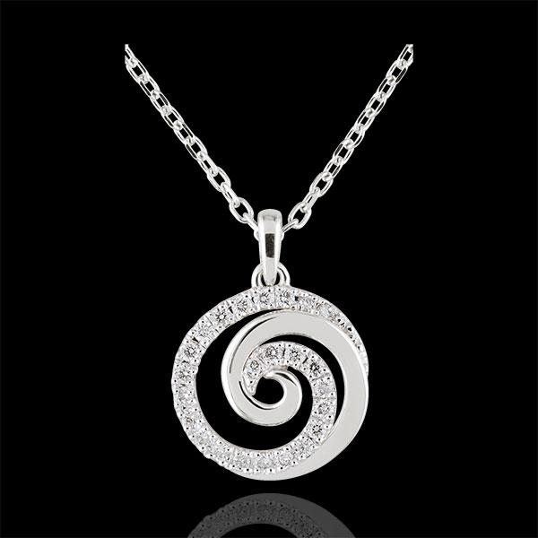 Necklace Loving Spiral - White gold