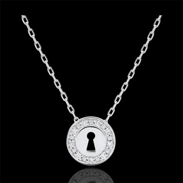 Necklace Precious Secret - white gold and diamonds