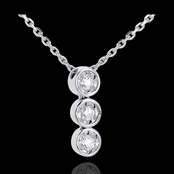 Encased diamond trilogy necklace 3 diamonds edenly jewelery encased diamond trilogy necklace 3 diamonds audiocablefo