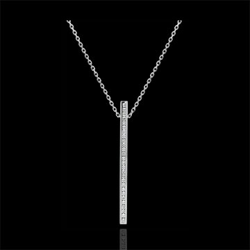 Necklace Constellation - Astral - white gold and diamonds - 9 carats