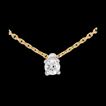 Solitaire necklace yellow gold