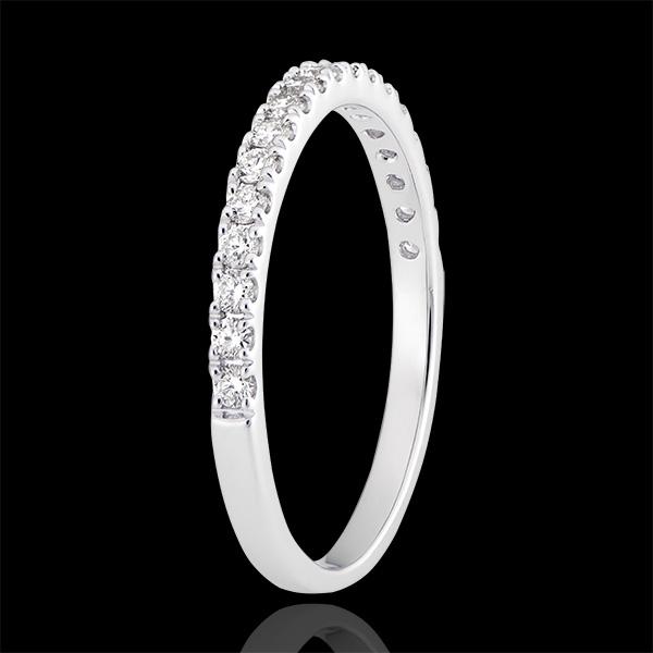 Obrączka Bettina - białe złoto 9-karatowe wysadzane diamentami