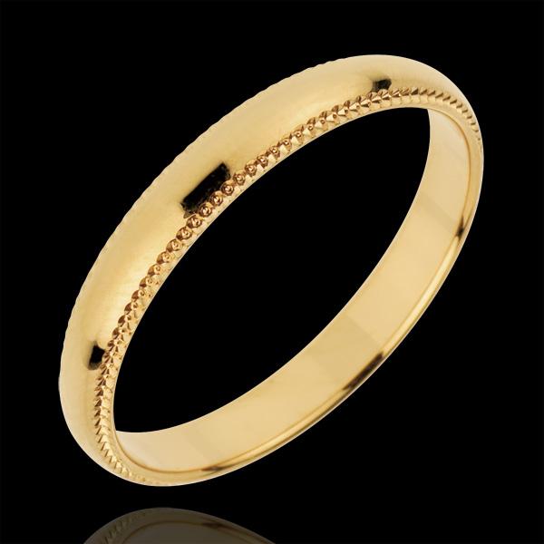 Obrączka Cesarz - złoto żółte 18-karatowe