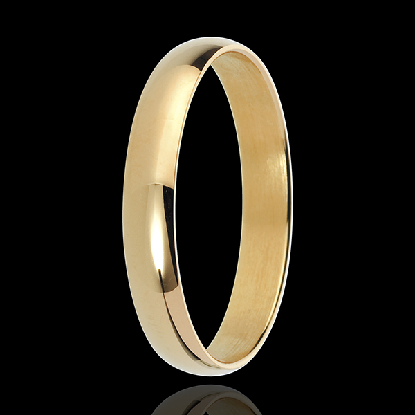 Obrączka Czystość z żółtego złota 18-karatowego