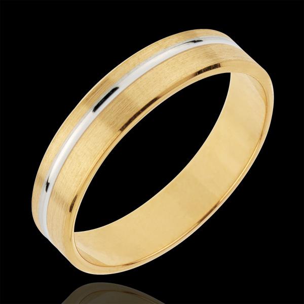 Obrączka Emmanuel - złoto białe i złoto żółte 18-karatowe