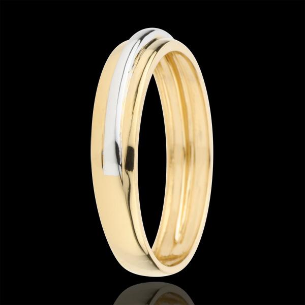 Obrączka Helios - złoto białe i złoto żółte 18-karatowe
