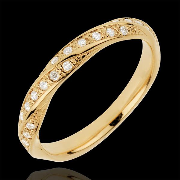 Obrączka Kunsztowny Splot - złoto żółte 18-karatowe