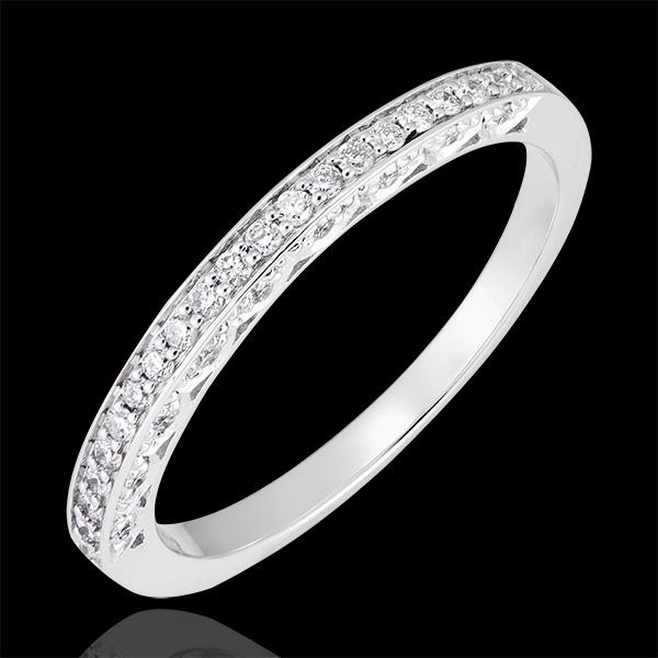 Obrączka Myriade - wariacja - białe złoto 18-karatowe wysadzane diamentami