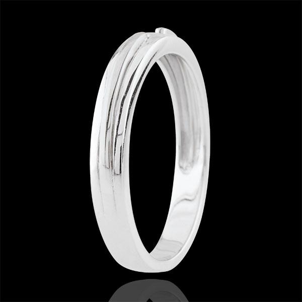 Obrączka Obietnica - złoto białe 18-karatowe - mały model