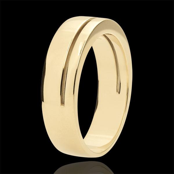 Obrączka Olimpia - Duży model - złoto żółte 18-karatowe