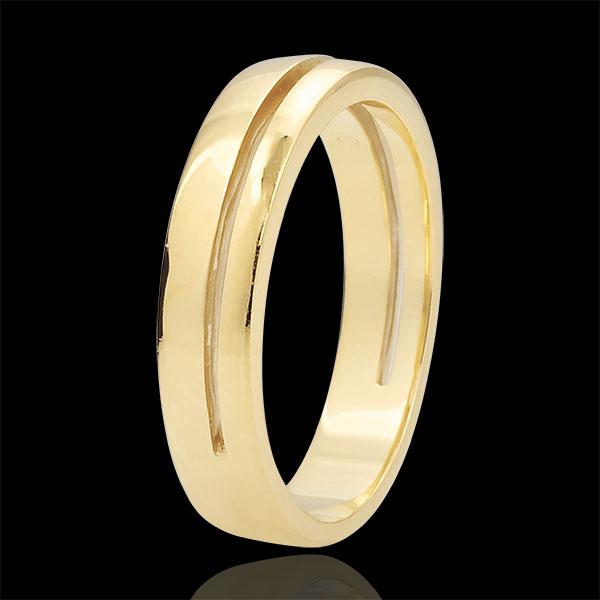 Obrączka Olimpia - Mały model - złoto żółte 18-karatowe