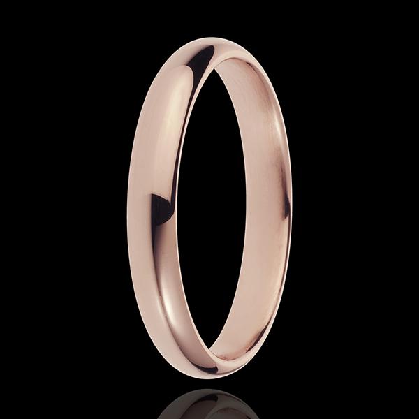 Obrączka z różowego złota 18-karatowego