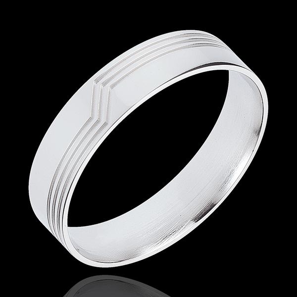 Obrączka Wolta z białego złota 18-karatowego