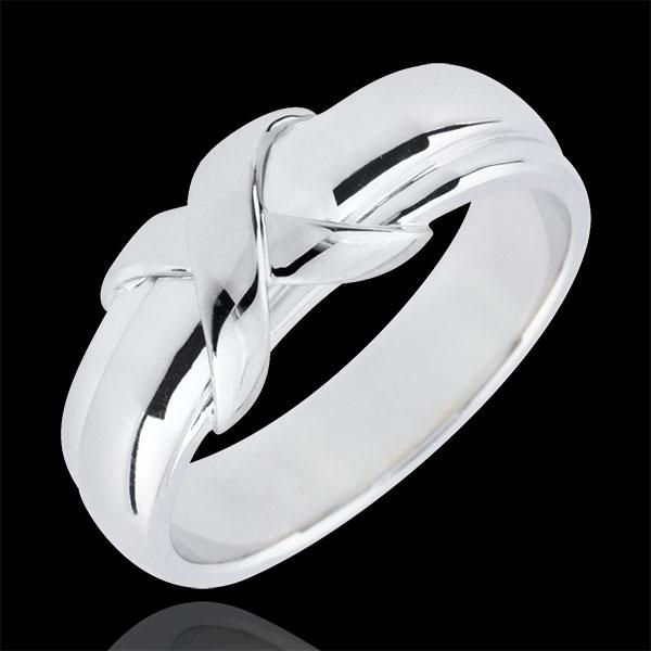 Obrączka Znak z białego złota 18-karatowego