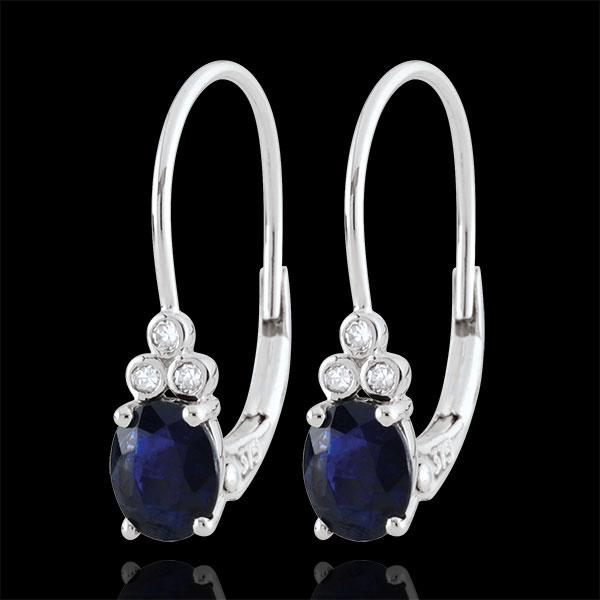 Ohrhänger Exquisit - Saphir und Diamanten