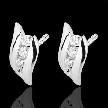 Ohrstecker Trilogie Kostbarer Kokon - Romanze - Weißgold - Diamanten - 18 Karat