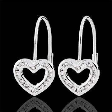 Ohrhänger Herz Téa - 40 Diamanten