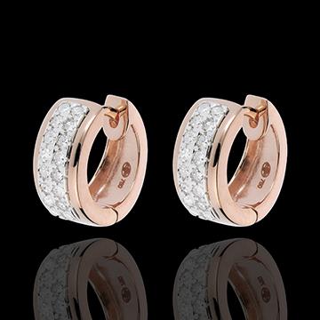 Ohrringe Sternbilder - Himmelskörper - Kleines Modell - Roségold - 0.22 Karat - 32 Diamanten