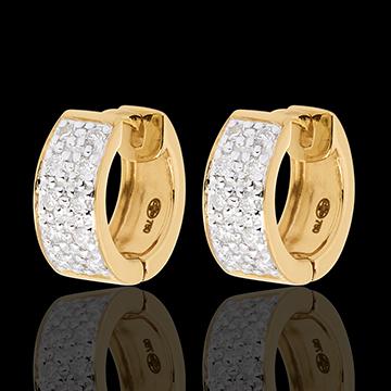 Ohrringe Sternbilder - Himmelskörper Veränderung - Großes Modell - Gelbgold - 0.2 Karat - 20 Diamanten