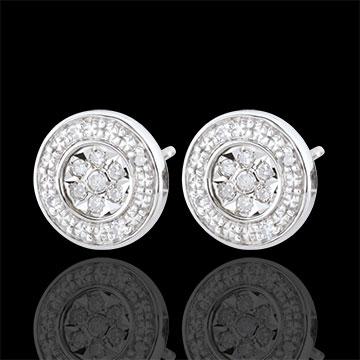 Oorbellen Elsa - 22 Diamanten - 9 karaat witgoud
