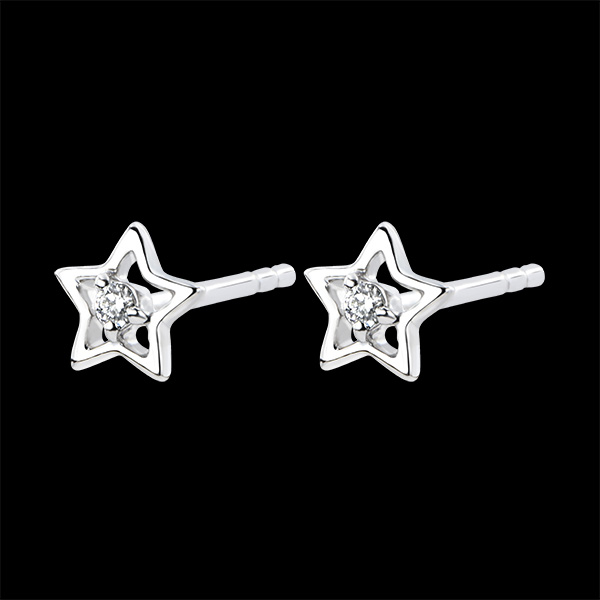 Oorbellen Overvloed - Mijn Ster - 18 karaat witgoud met diamanten