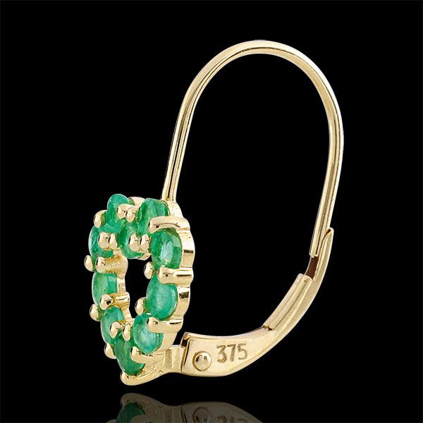 Oorbellen Rosie - Smaragd - 9 karaat geelgoud