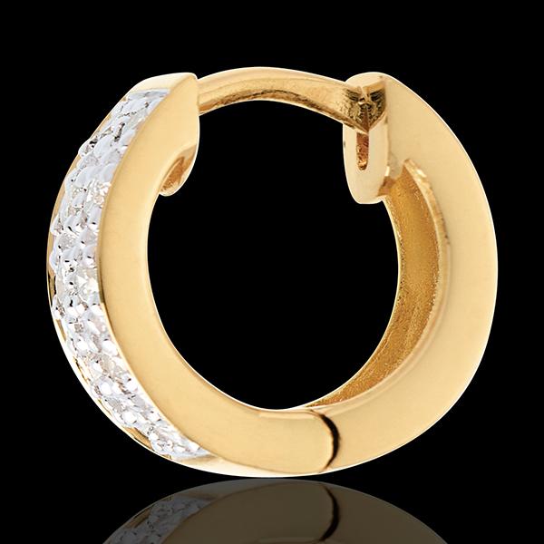 Oorbellen Sterrenbeeld - Astraal - groot model - 18 karaat geelgoud - 0,2 karaat - 20 Diamanten