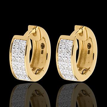 Oorbellen Sterrenbeeld - Astraal - klein model - 18 karaat geelgoud - 0.12 karaat - 24 Diamanten