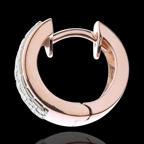 Oorbellen Sterrenbeeld - Astraal - klein model - 18 karaat witgoud en rozégoud - 0.22 karaat - 32 Diamanten